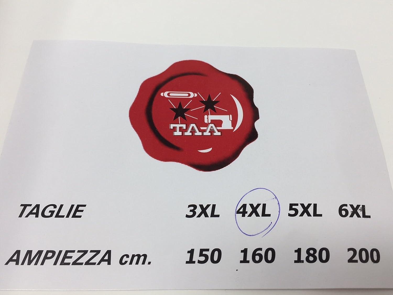 Bordeaux, 3 XL Art Accappatoio in Spugna idrofila con Cappuccio Unisex Taglie Extra Forti Maxi Colori Vari Tinta Unita