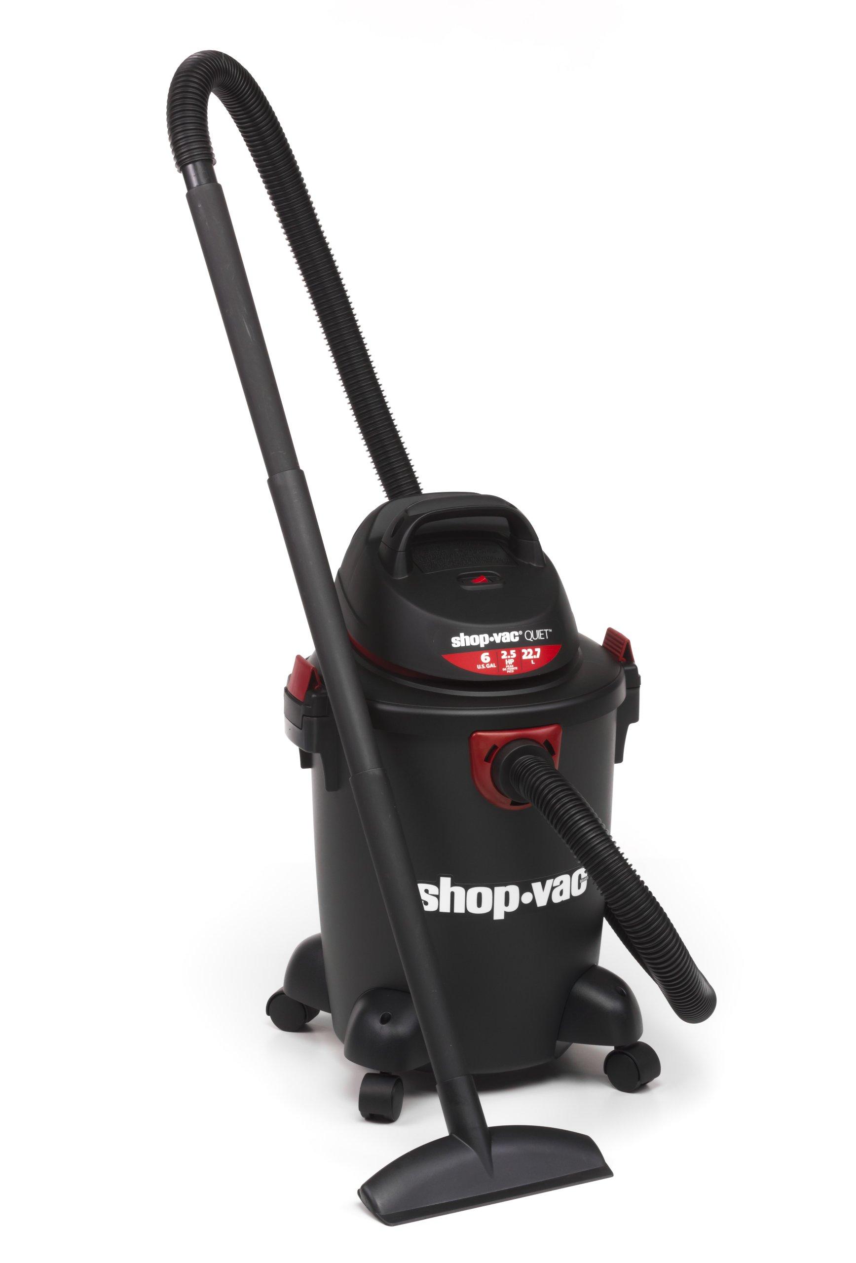 Shop-Vac 5980600 6-Gallon 2.5 Peak HP Quiet Series Wet Dry Vacuum