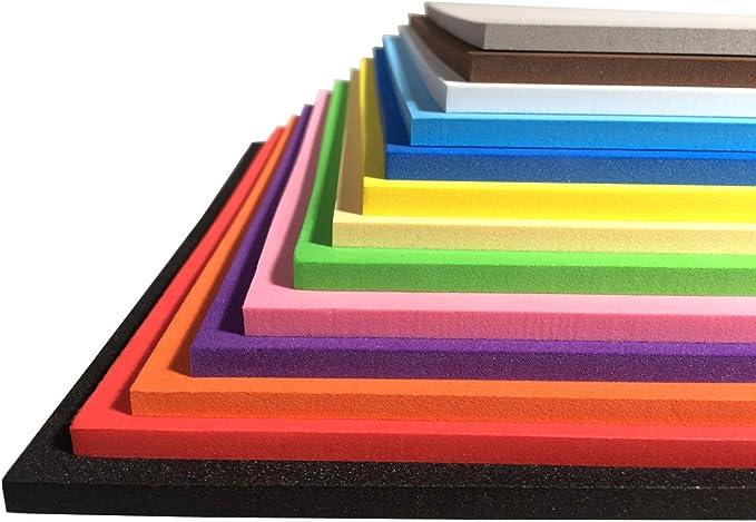 Sixam Extra Gruesa! - Hojas de Espuma para Manualidades - Material EVA - 13 Colores 9.6 × 9.6 Pulgadas - 3 mm / 5 mm / 7 mm de Grosor: Amazon.es: Juguetes y juegos