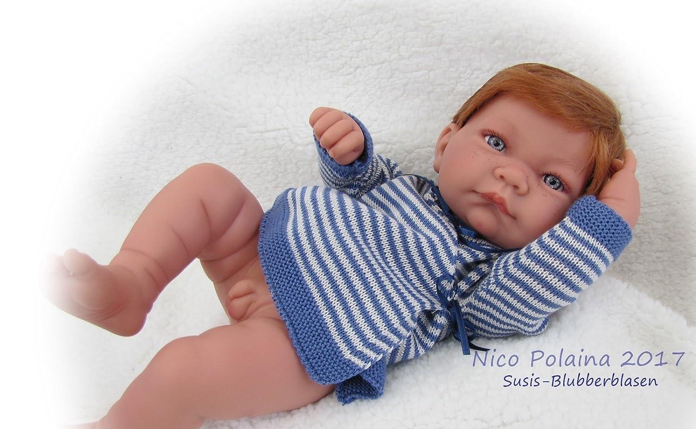 Amazon.es: Muñeco recién nacido Nico con Polaina Azul ...
