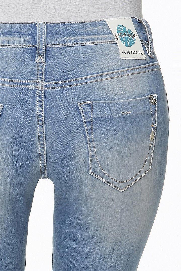 d6fb08ba02787 BlueFire Damen Capri-Jeans Tyra Skinny Fit 3/4-Länge Stoned Blue (81) 31:  Amazon.de: Bekleidung
