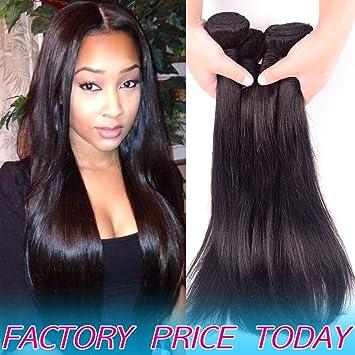 Full For One Head 8A Brazilian Virgin Human Hair 3 Bundles Straight Cheap  Unprocessed Peruvian Remy c42c5afaf5