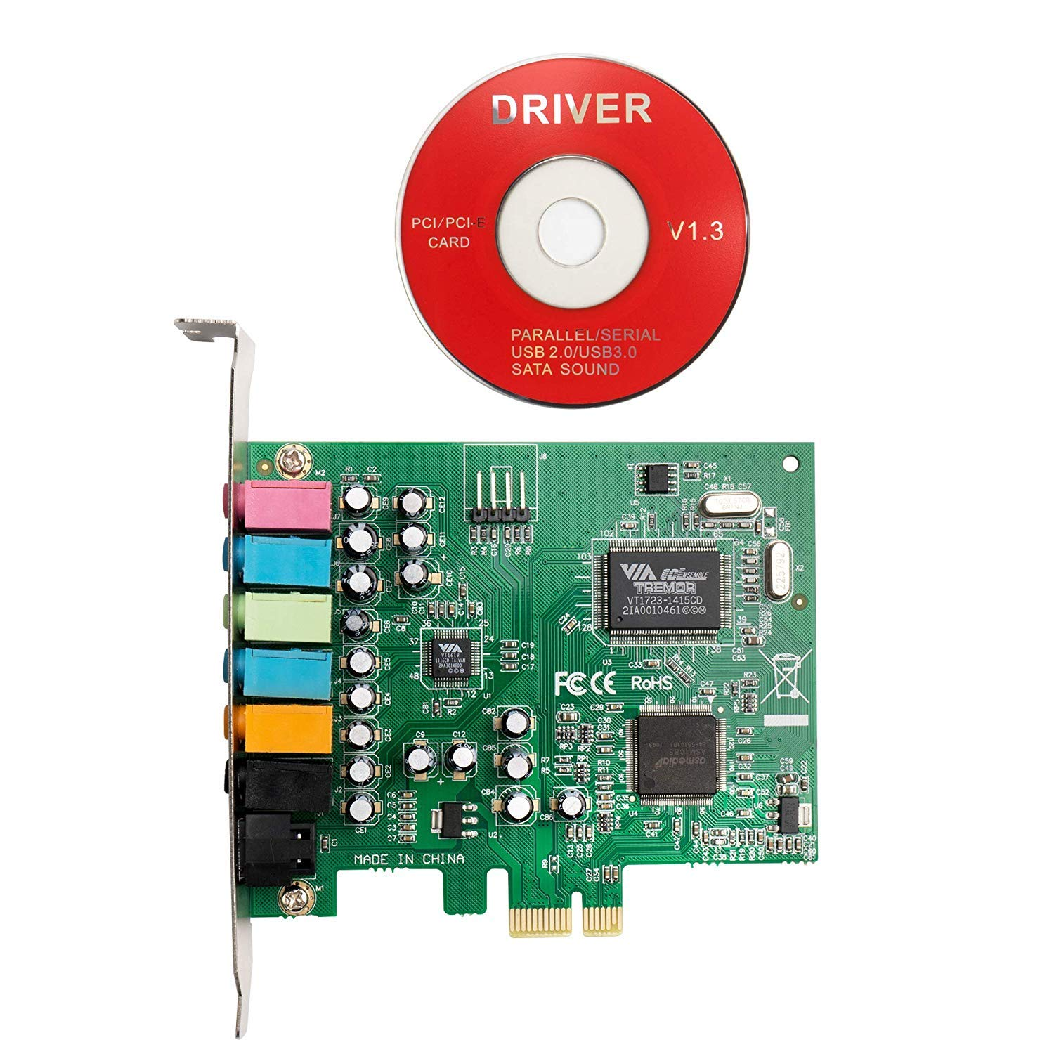 SHINESTAR Sound Card with S/PDIF Digital Optical Out, PCIe Sound Card for PC Windows 10, 7.1 Channel PCI-e Audio Card, 3D Surround Stereo, Support Windows XP / 7/8 by SHINESTAR (Image #4)