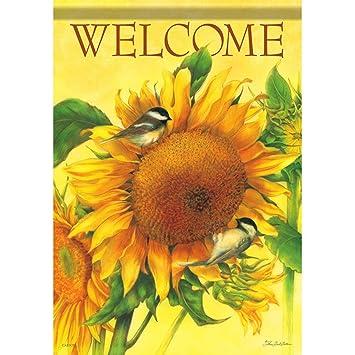 Carson Shining Sunflower Garden Flag 45764