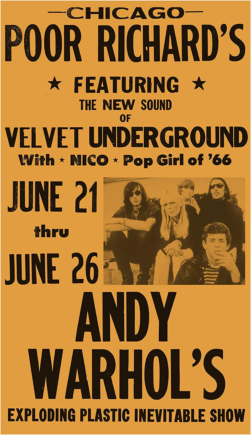 Velvet Underground Nico Banana Andy Warhol Vintage-Style Rock Music 24x36 Poster