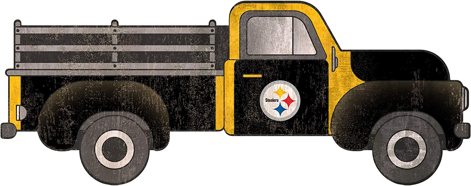 Fan Creations NFL Pittsburgh Steelers Unisex Pittsburgh Steelers 15in Truck Cutout, Team Color, 15 inch