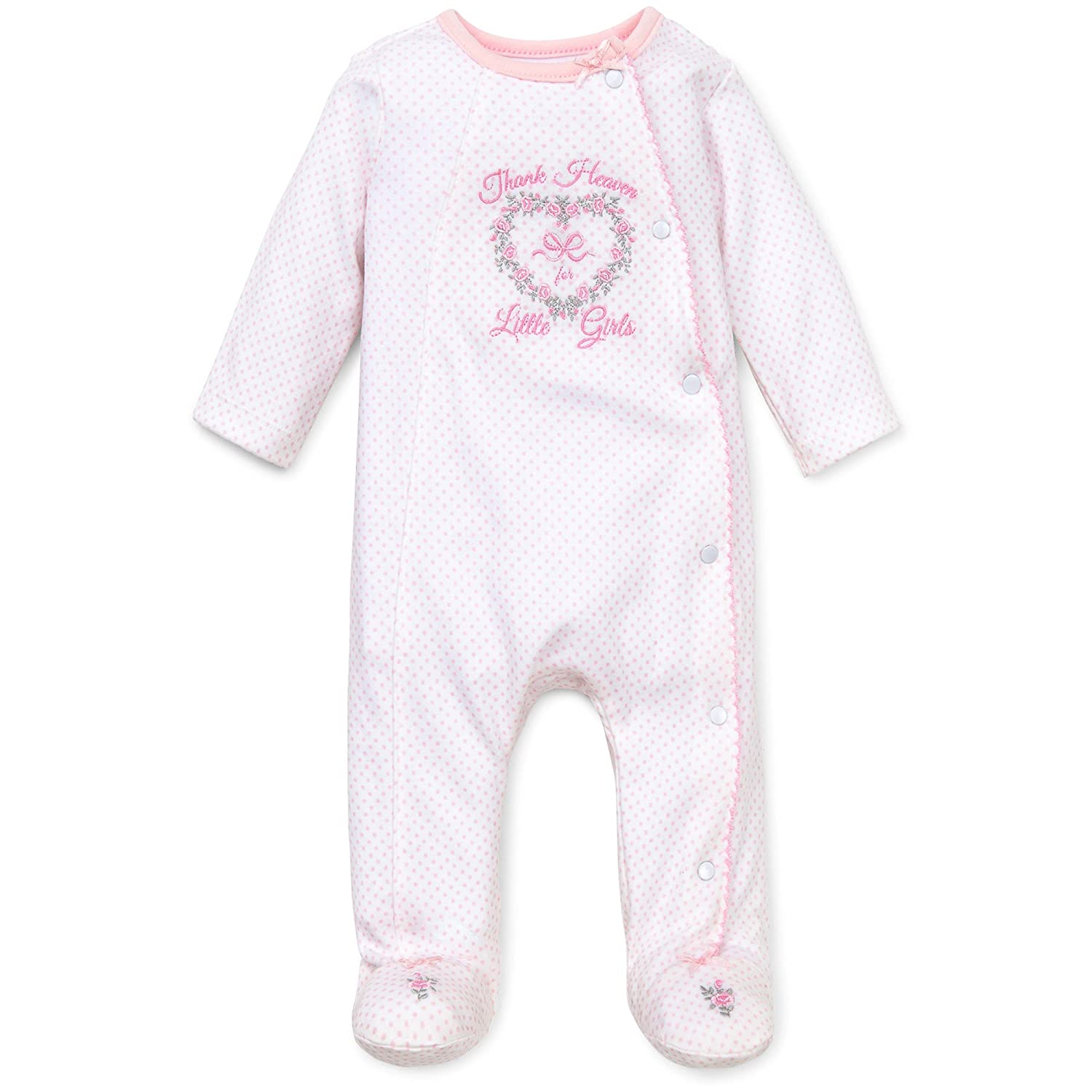 Little Me Girls' Snap Side Footie