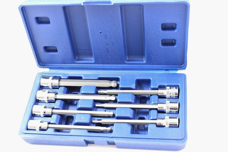 "10mm 7pc Set 3//8"" Drive Metric MM Long Allen Hex Key Sockets 3mm"