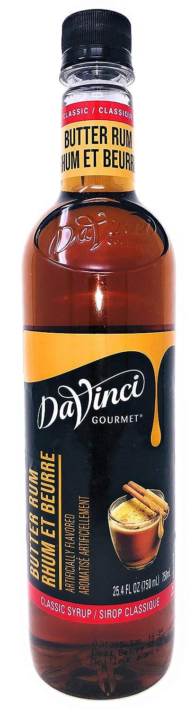 DaVinci Gourmet Classic Butter Rum Flavoring Syrup, 750 mL Plastic Bottle