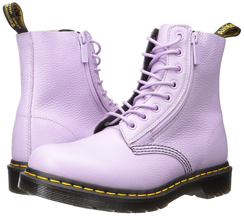6144302bcd0  Dr Martens Pascal Orchid Violet 8 Eye Cuir Femmes Bottes  Amazon.fr   Chaussures et Sacs