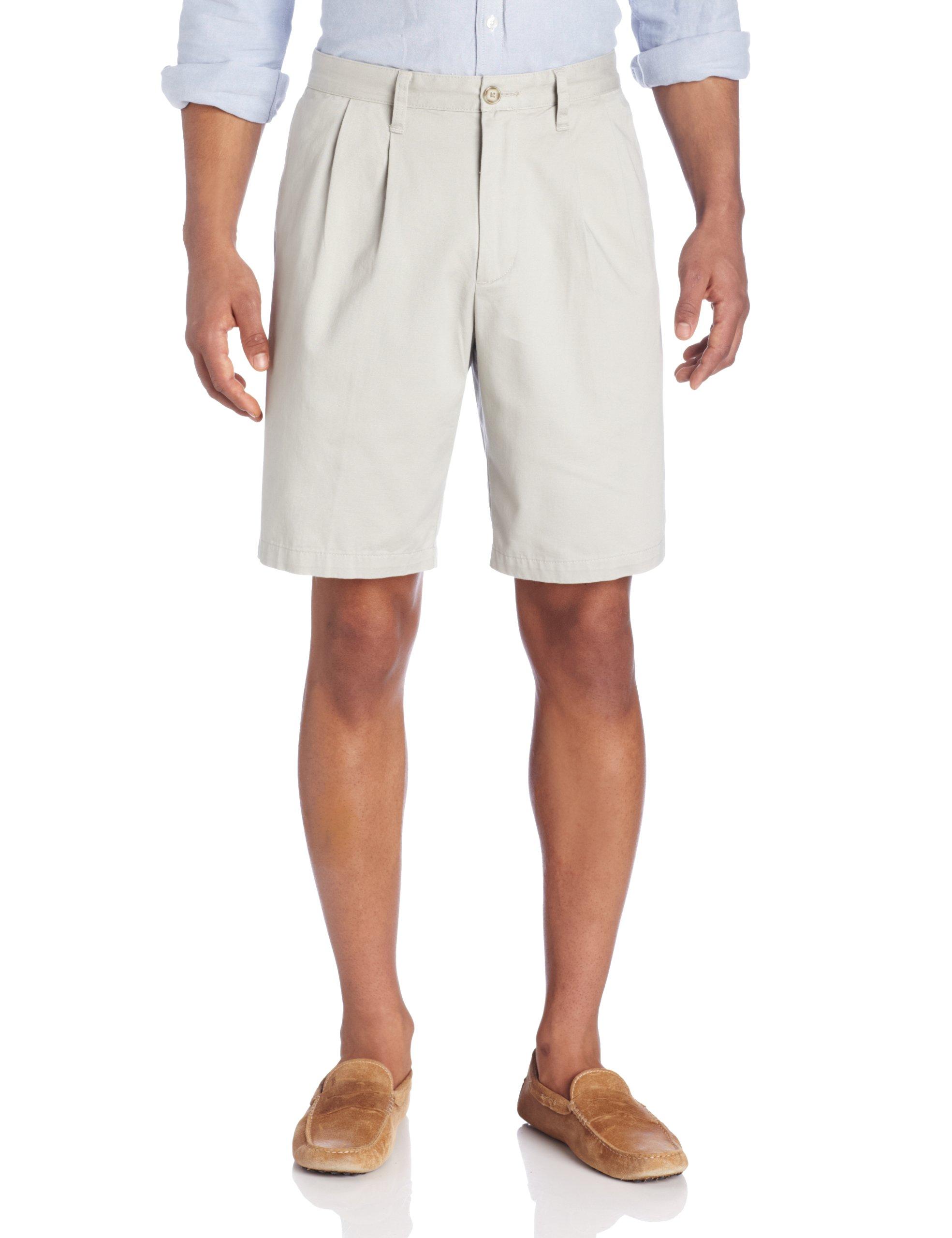 Dockers Men's Perfect Short D3 Classic-Fit Pleated Short - 29W - Porcelain Khaki (Cotton) by Dockers