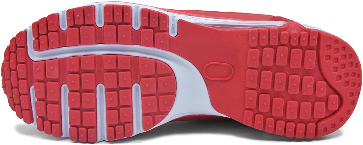 Knixmax Basket Femme Homme Chaussure de Sport Running Confortable Fitness Mode Sneakers Rouge