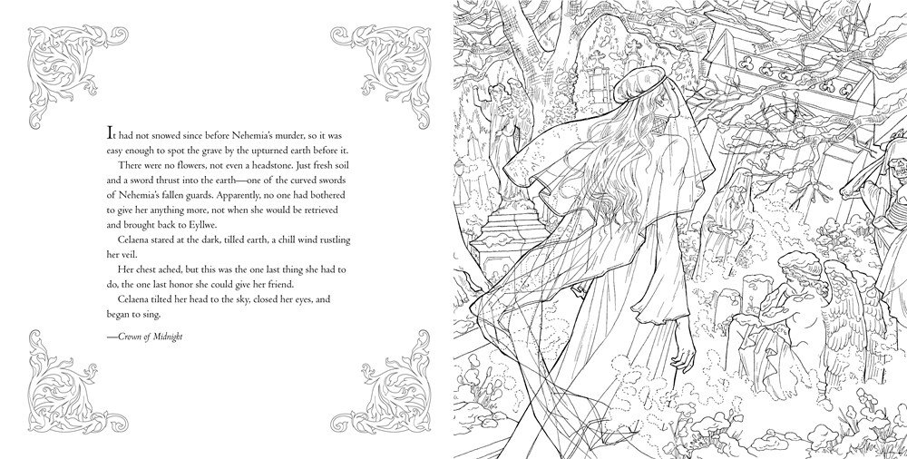 The Throne Of Glass Colouring Book Yvonne Gilbert Jon Proctor
