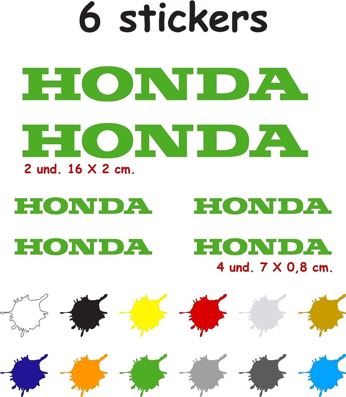 Lot de 6 autocollants en vinyle d/écoup/és 7 ans pour Honda argent