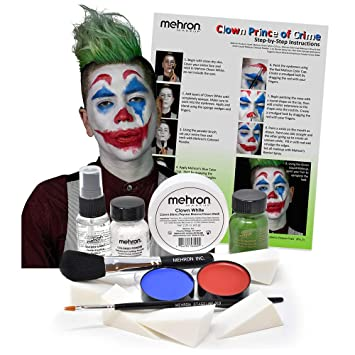 Amazon.com: Mehron Clown - Kit de maquillaje para disfraz de ...