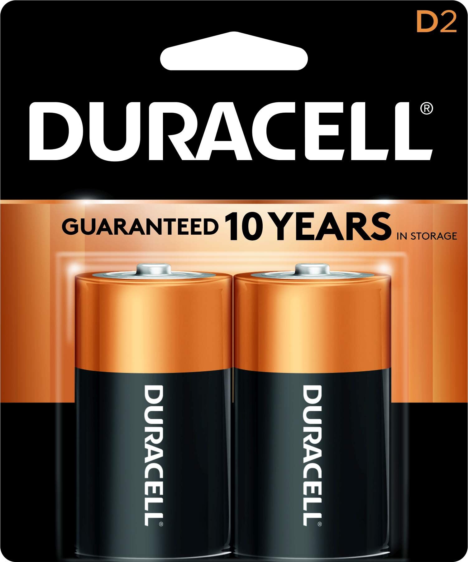 Duracell – CopperTop D Alkaline Batteries with recloseable package – long lasting, all-purpose D battery for household and business
