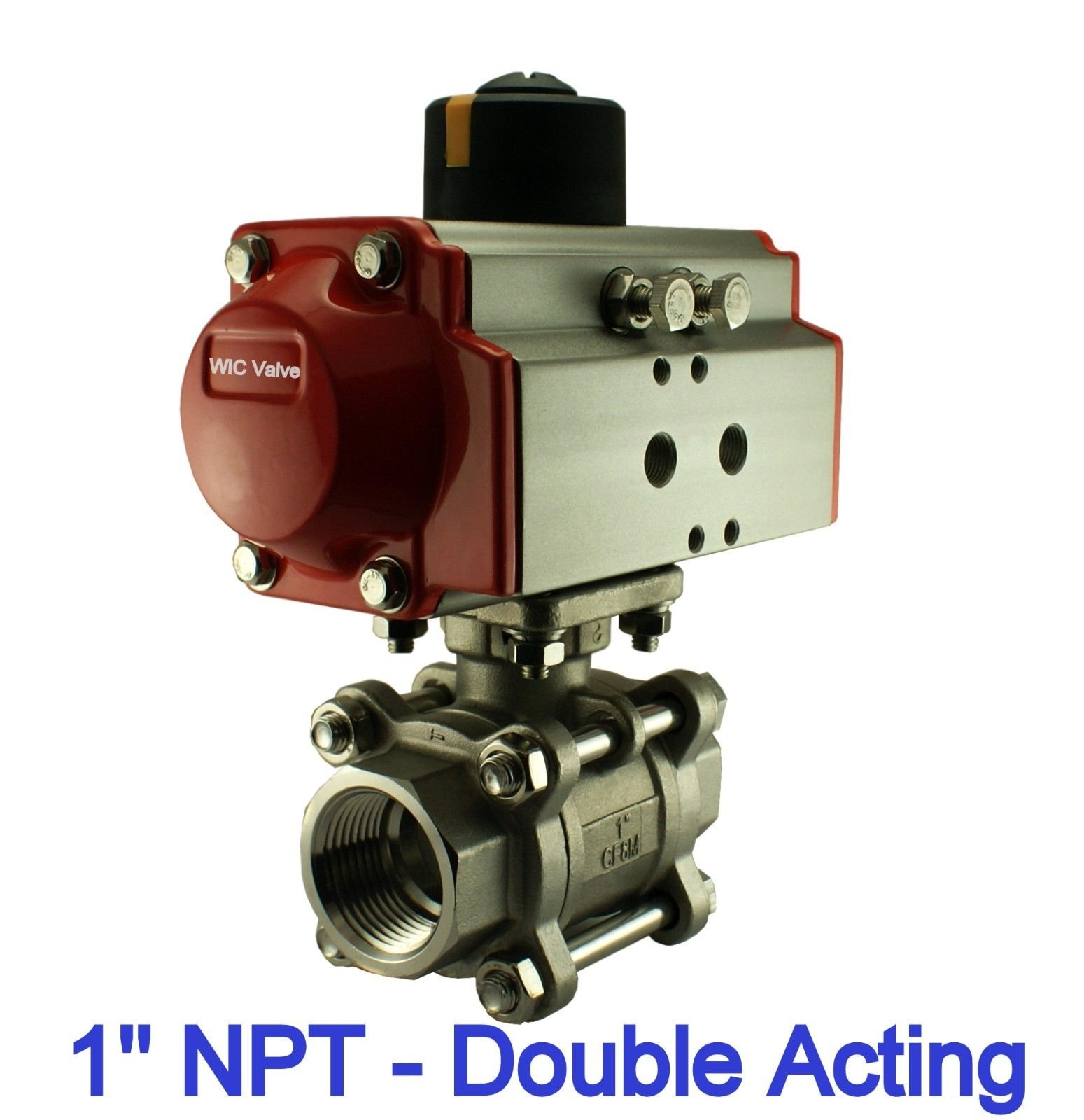 1'' Inch Pneumatic Double Acting Air Return Air Actuated Stainless Ball Valve