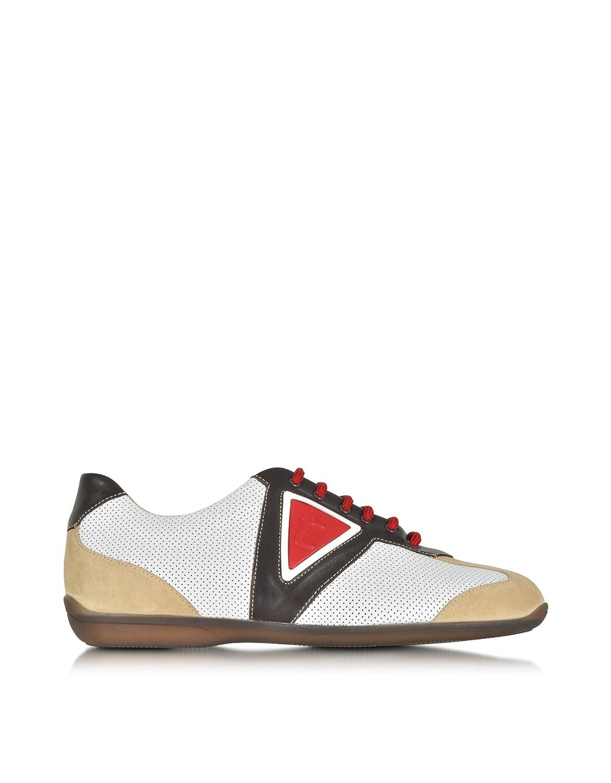 A.Testoni メンズ M70340SEH97711GDE マルチカラー 革 運動靴 B07DXCKJWM