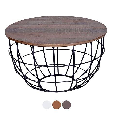 Tisch Rund Metallgestell.Casamia Couchtisch Wohnzimmer Tisch Rund Lexington ø 80 Cm
