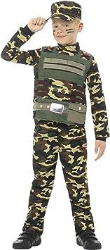 Generique - Disfraz Militar camuflado Niño 4-6 Años (104/116 ...