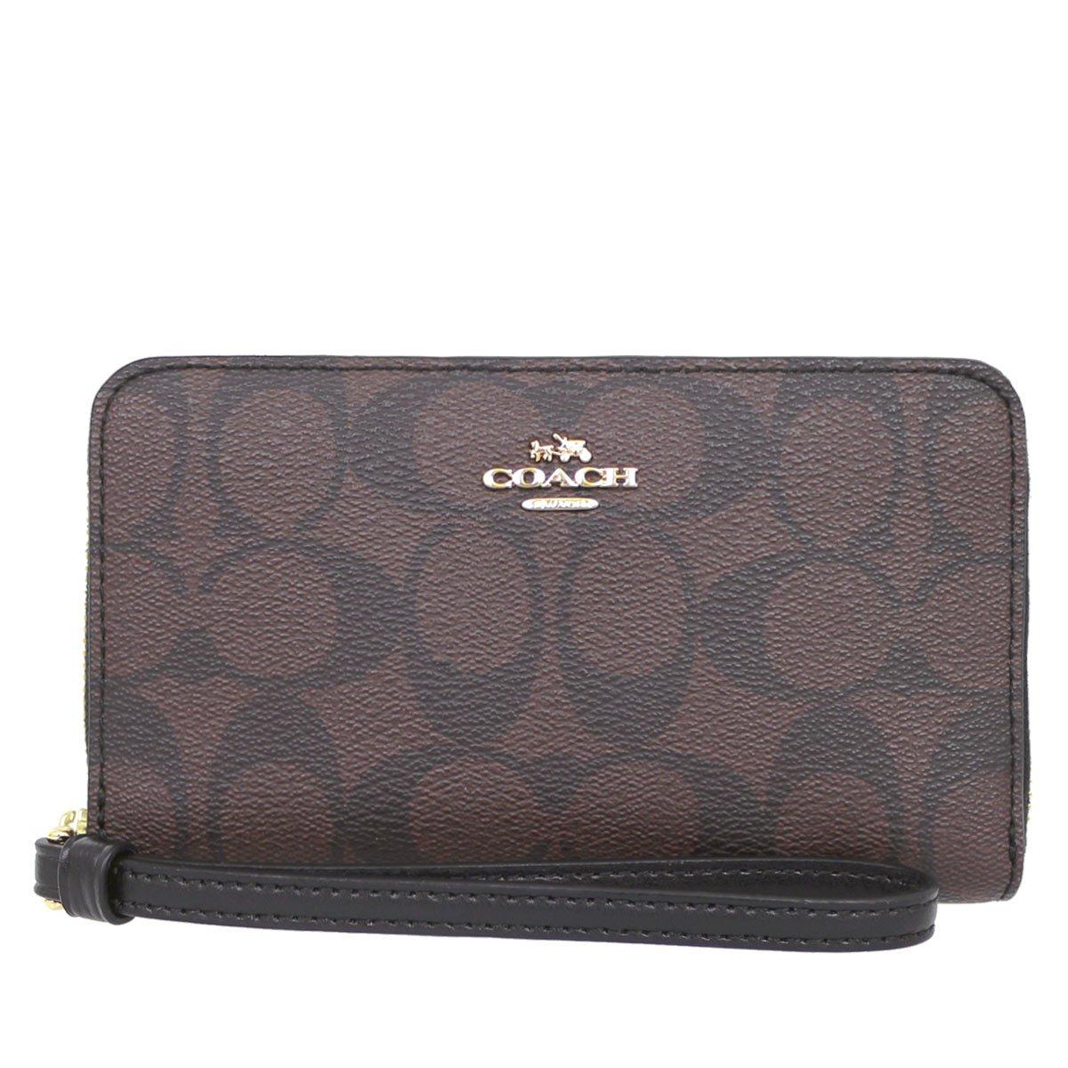 [コーチ] COACH 財布 (二つ折り財布) F57468 ブラウン×ブラック IMAA8 二つ折り財布 レディース [アウトレット品] [並行輸入品] B073VNHYLS