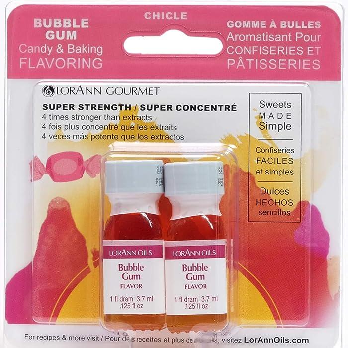 Lorann Oils Candy and Baking Flavoring Bottle 2/pkg , .125 oz, Bubble Gum