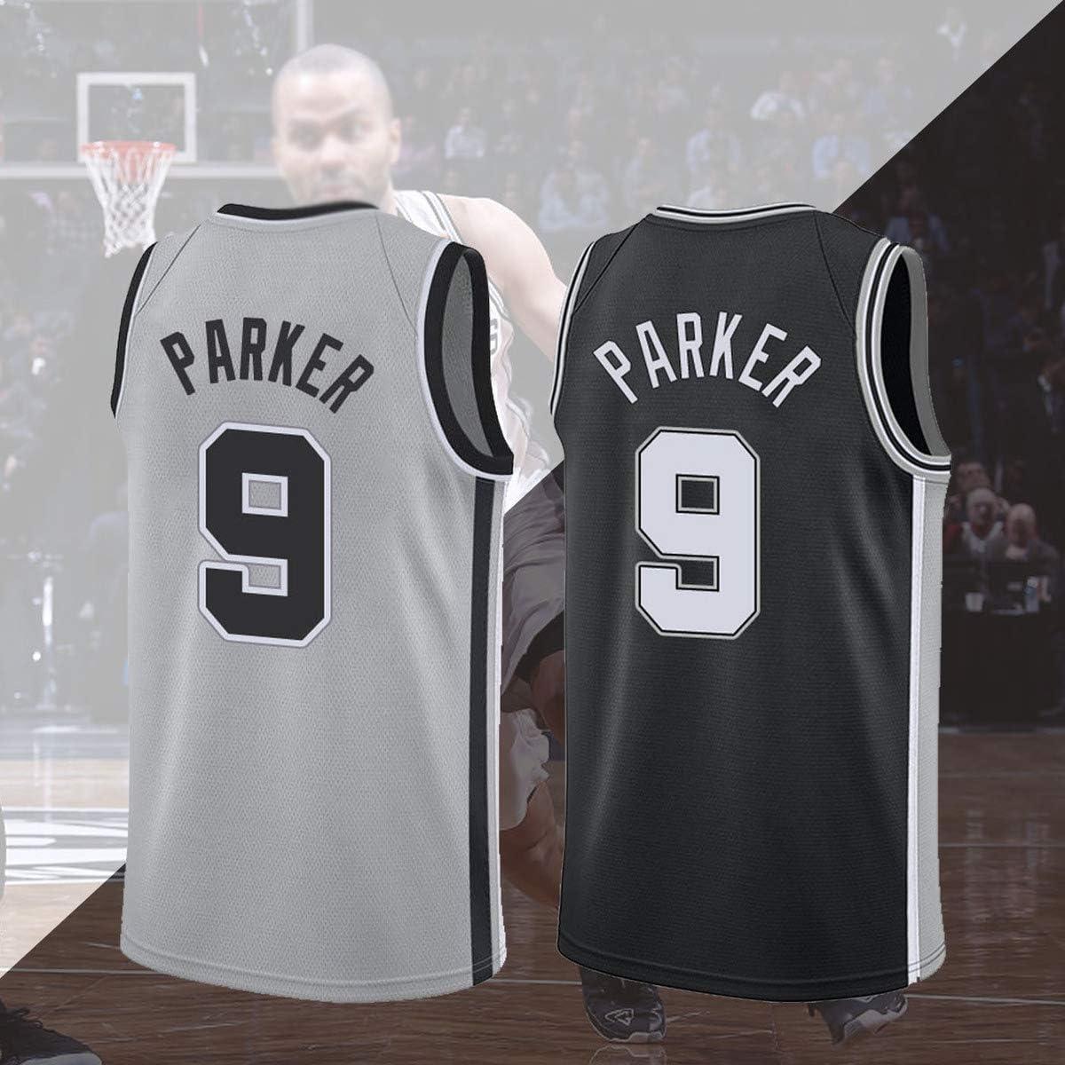 San Antonio Spurs Maillot Tony Parker No.8 T-Shirts de Basketball pour Hommes et Unisexes Ensemble sans Manches Classique Cadeau de la Ligue masc Nouvelle Saison Maillot Tony Parker # 8