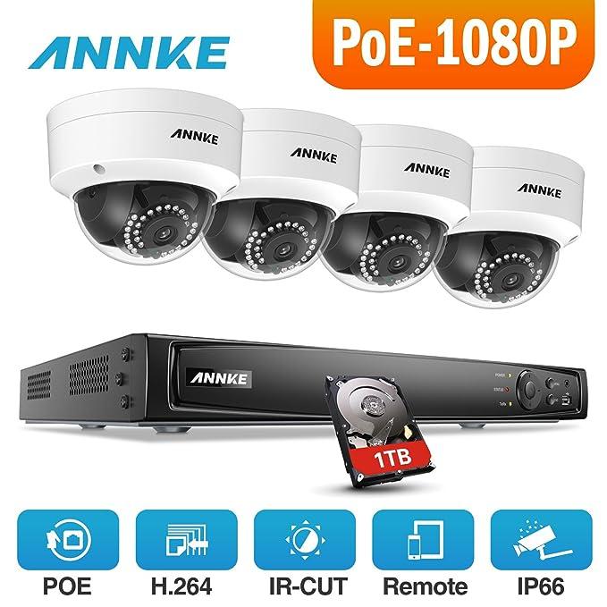 1 opinioni per ANNKE Kit Sorveglianza 1080P POE NVR 6MP 4 Canali 4 POE Telecamera Sorveglianza