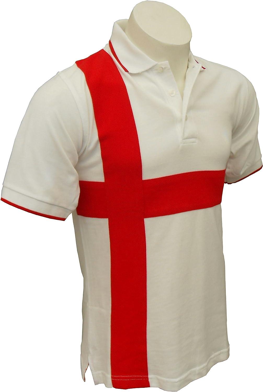 Polo para Hombre Inglaterra St George Cross Blanco Adultos Tour ...