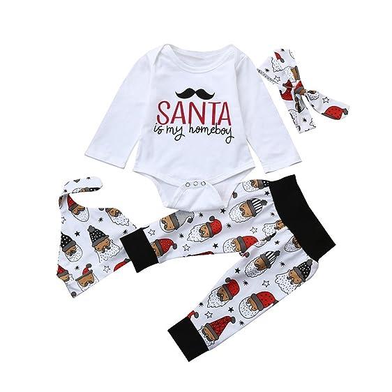 Amazon Com Kuoshun Clearance Christmas Outfit Set 4pcs Newborn Boy