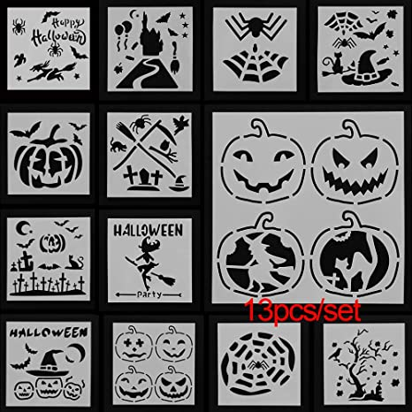 13pcs//set Embossing Template Scrapbooking Walls Painting Layering Stencils DIY