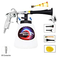 Practisol Car Interior Cleaner, Auto Detail Tools Car Detailing Kit(Needs Air Compressor) High Pressure Car Cleaning Gun Car Cleaning Kit for Vehicle Upholstery Carpet Seat (US M Style Plug)