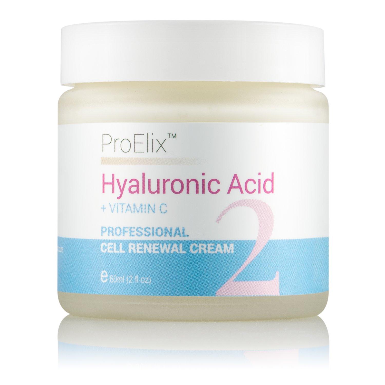 ProElix - Crema viso professionale a base di vitamina C e acido ialuronico, ripara le cellule, anti-invecchiamento, 60ml Pelham Healthcare