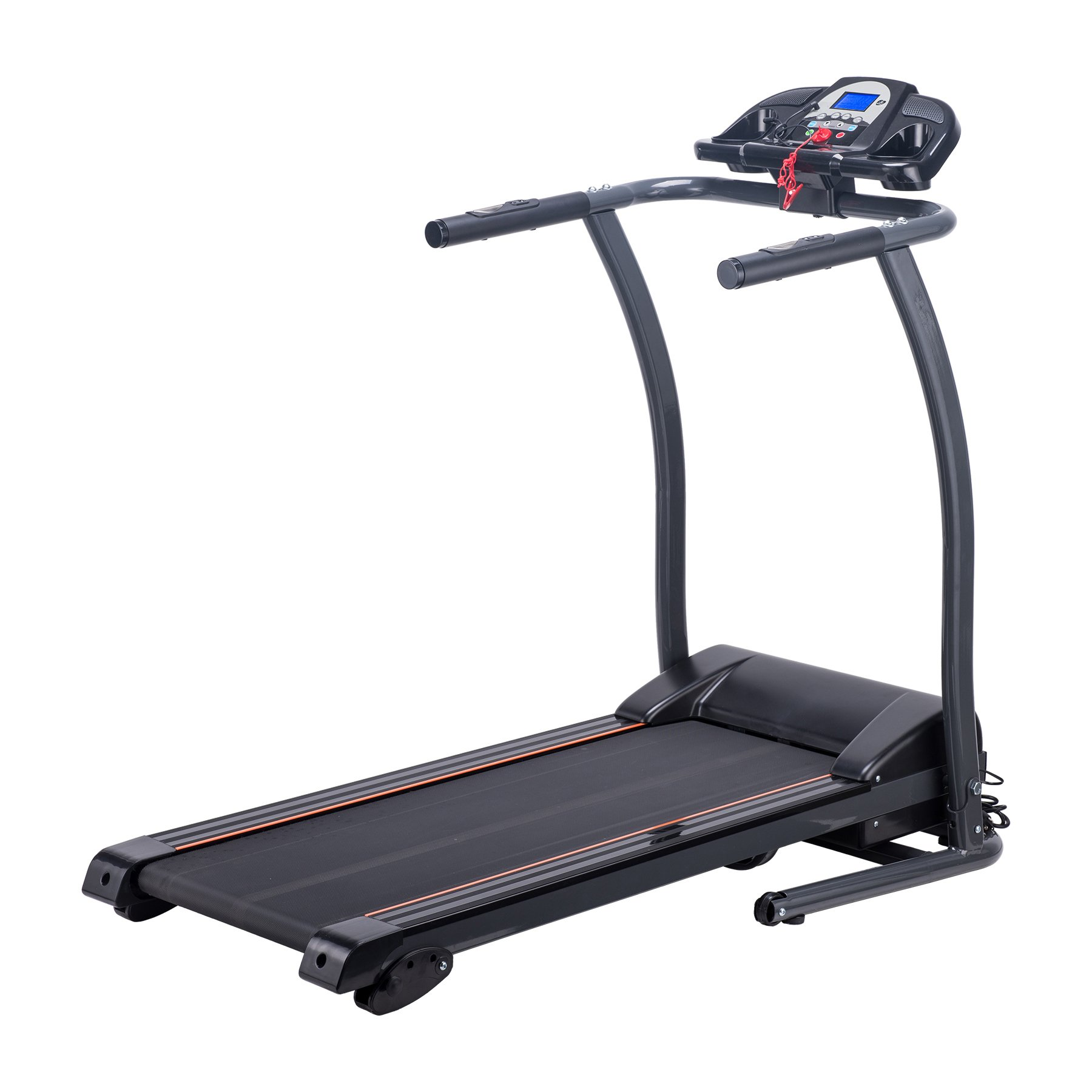 Pinty Folding Treadmill Incline Motorized Running Machine for Home with LED Display, MP3 Player, Emergency Stop, Miles Track