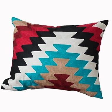 Rod's Montana Crewel Stitch Embroidery Pillow