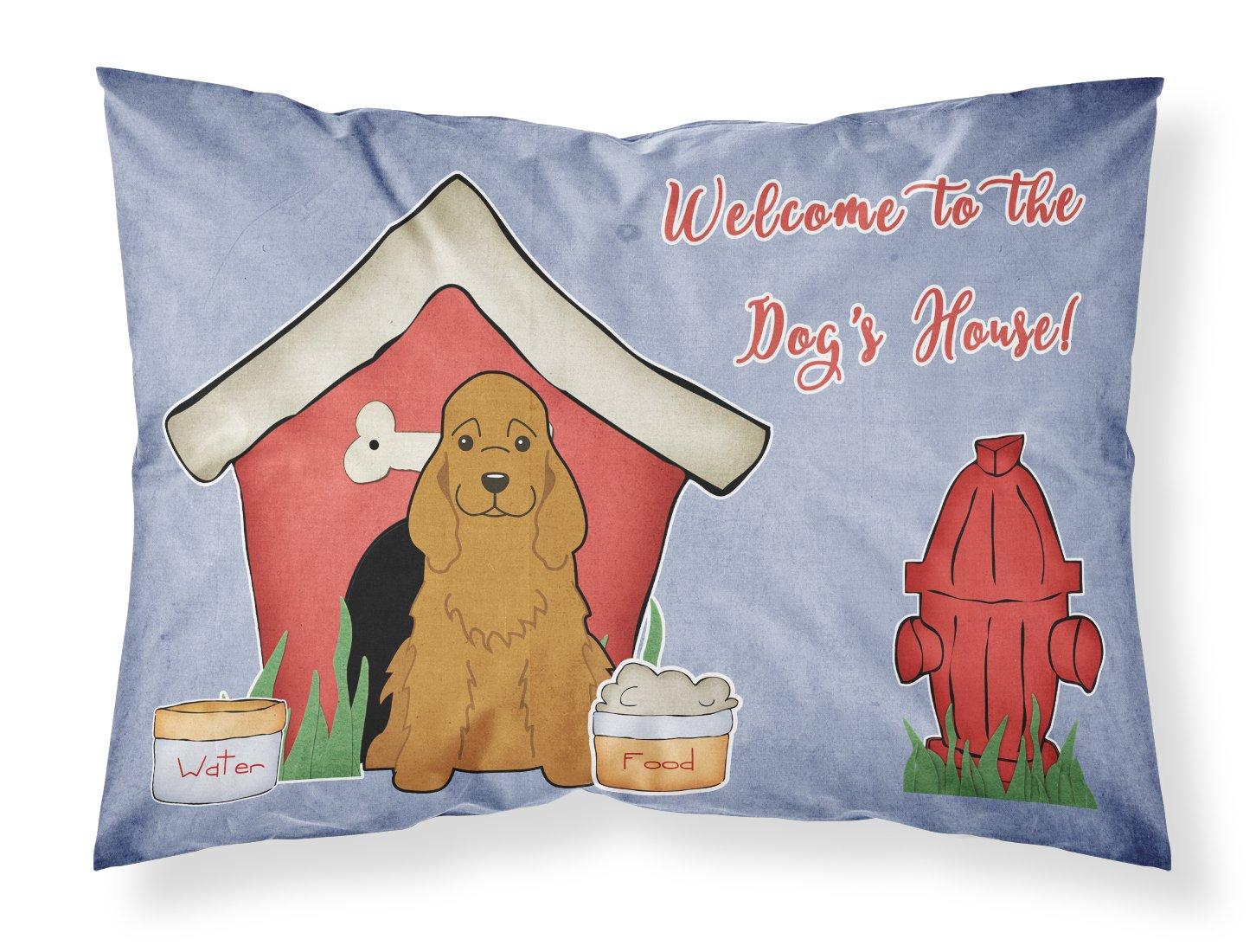 Carolines Treasures Dog House Collection Cocker Spaniel Red Fabric Standard Pillowcase BB2849PILLOWCASE Multicolor