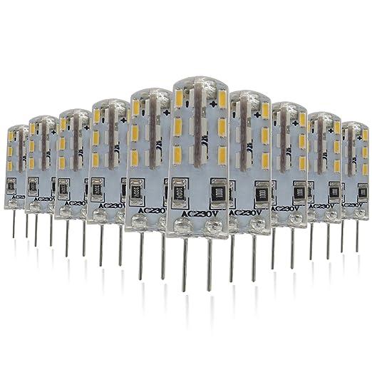 Mininono Bombillas LED G4, 1.5W 150LM Blanco Neutro 4000K, equivalente a la lámpara