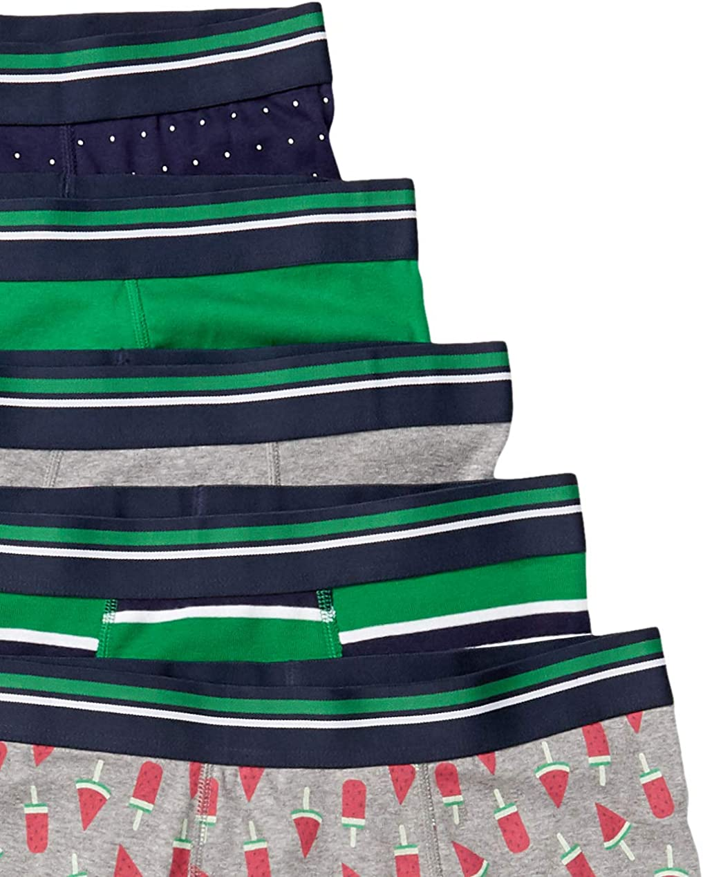 Essentials Men's 5-Pack Tag-Free Boxer Briefs: Clothing
