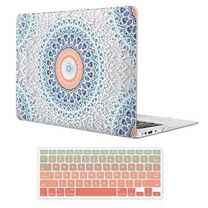 outlet store 915ed fbed8 MacBook Air 13 Inch Case (Release 2010-2017 Older Version),iCasso Rubber  Coated Soft Touch Hard Case with Keyboard Cover Only Compatible Macbook Air  ...