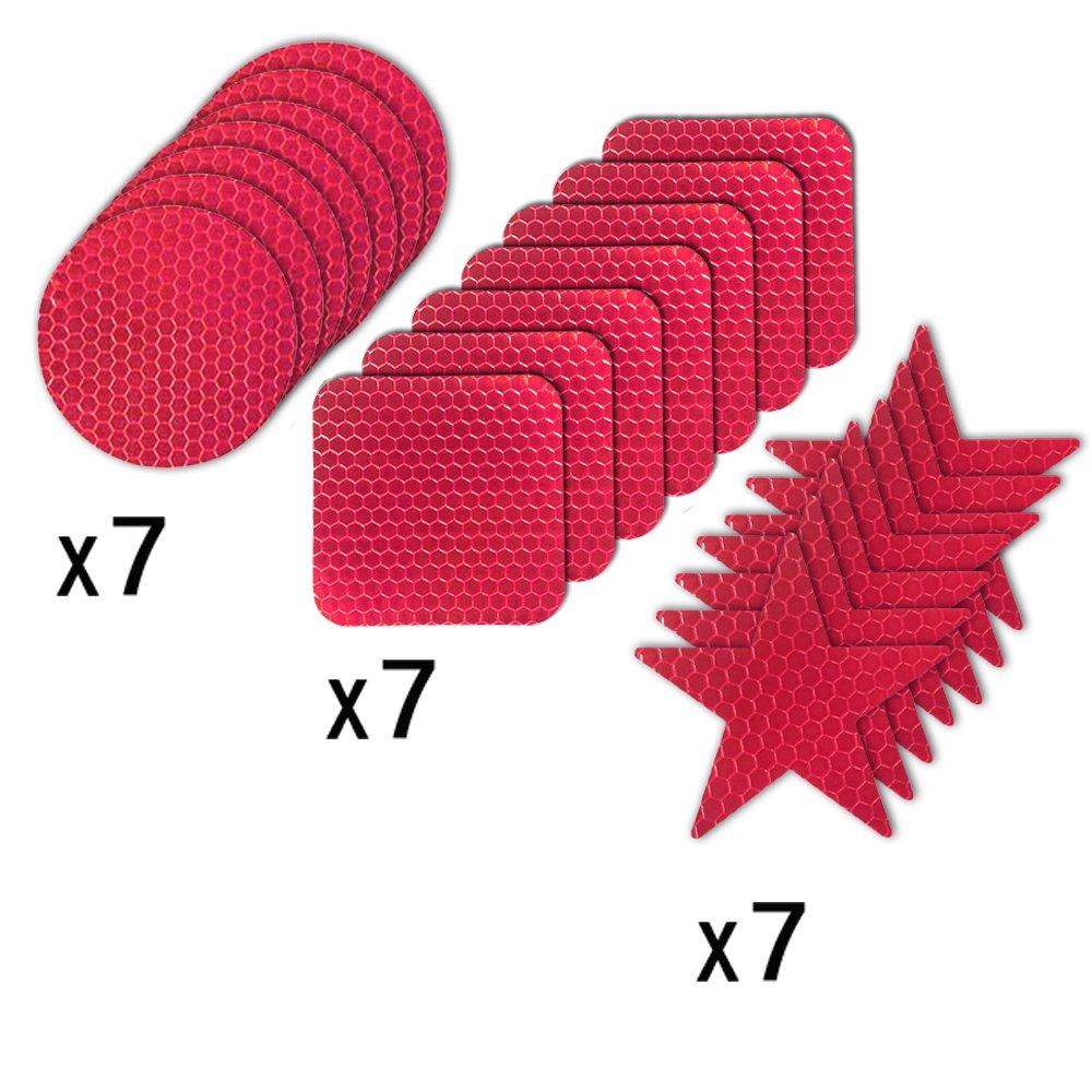 Muchekey Autocollants R/éfl/échissants Imperm/éable Autocollants Adh/ésifs de S/écurit/é Haute visibilit/é Stickers Reflechissants S/écurit/é Enfant pour V/élo Moto B/éb/é poussettes V