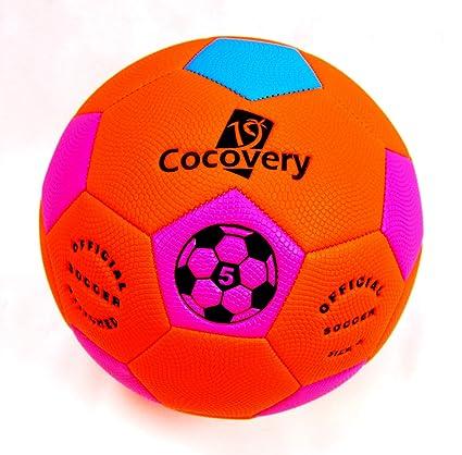Balón Fútbol Playa-Neón-Cocovery19 (Naranja): Amazon.es: Deportes ...