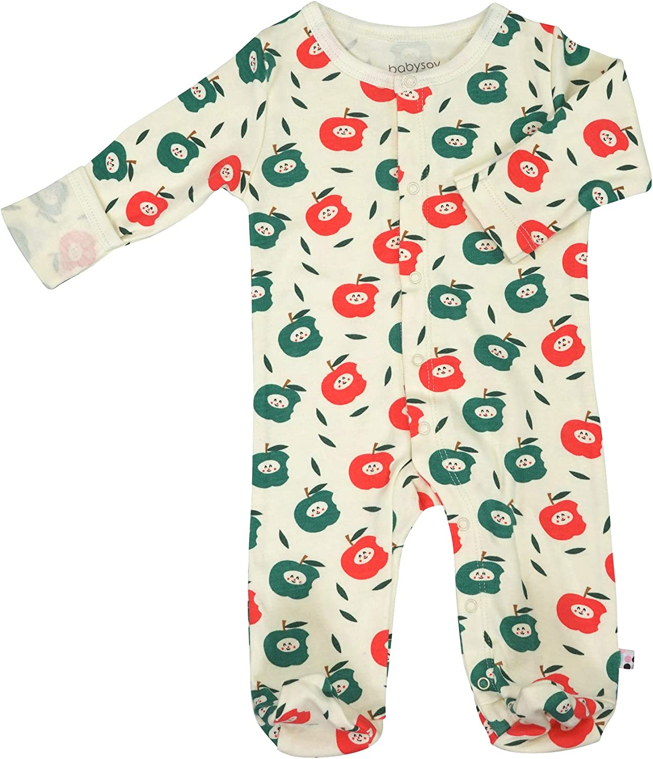 Babysoy Long Sleeve Soy Footie PJS - Snap One-Piece Sleeper
