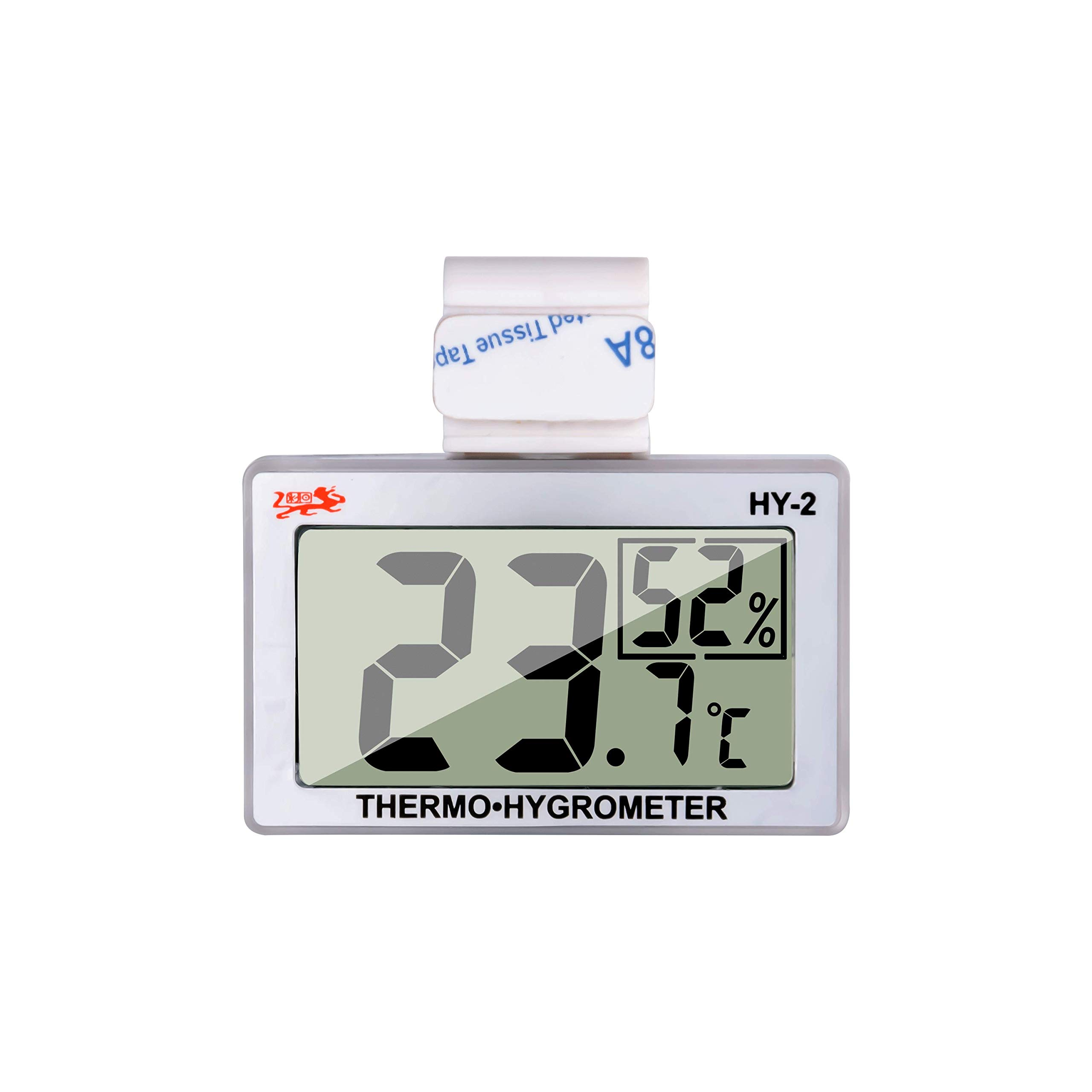 Reptile Thermometer Humidity and Temperature Sensor Gauges Reptile Digital Thermometer Digital Reptile Tank Thermometer Hygrometer with Hook and Velcro Ideal for Reptile Tanks, Terrariums, Vivariums by JLENOVEG