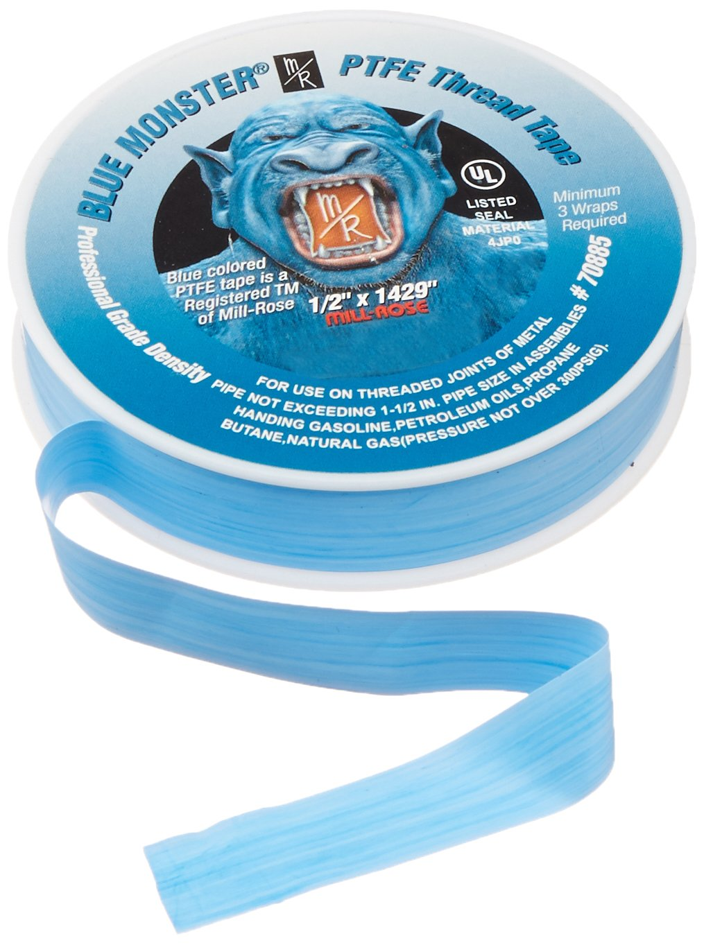 Mill Rose 70885 Blue Monster PTFE Pipe Thread Sealant Tape 1 2 Inch x 1429 Inches Blue