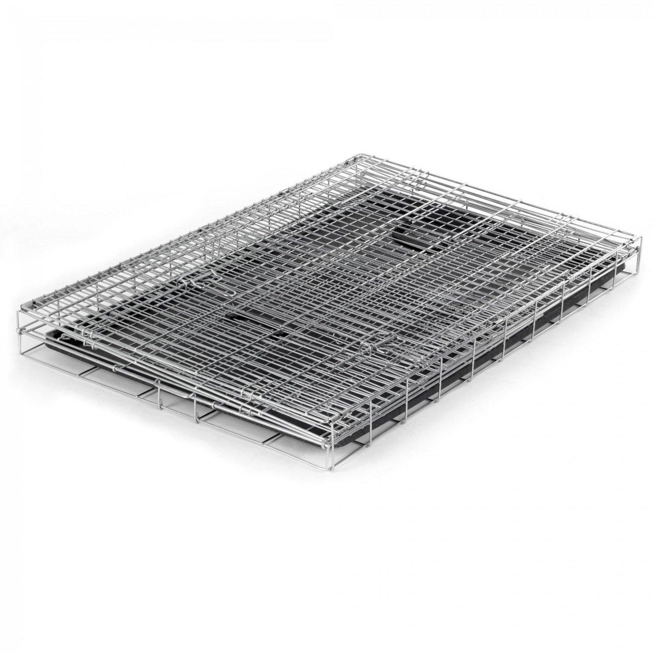 zoomundo Altezza XL Gabbia Metallo Pieghevole per Cani Viaggio Cucciolo Gabbia Animali Trasportino Richiudibile 2 porte