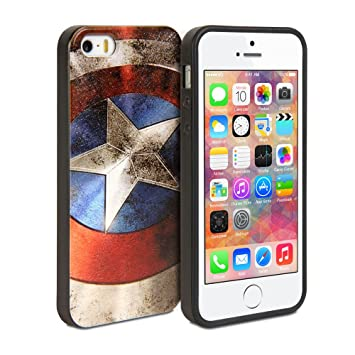 Gmyle Cover Case Coated for iPhone 5 & 5S - Captain: Amazon.in ...
