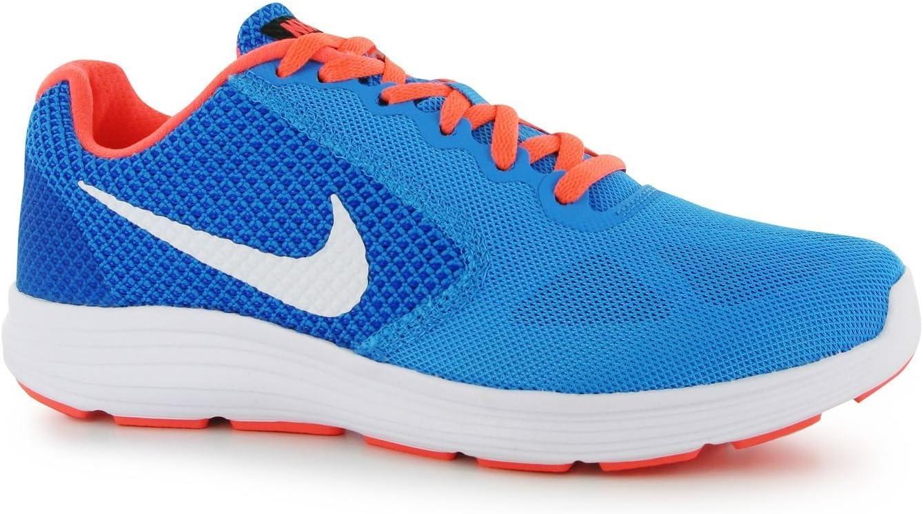 Nike Revolution 3 Zapatillas de Running para Mujer Azul/Blanco Run Fitness Zapatillas Zapatillas, Azul/Blanco: Amazon.es: Deportes y aire libre