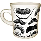 The Unemployed Philosophers Guild Great Moustaches Coffee Mug - History's Finest Facial Hair - Includes Twain, Einstein…