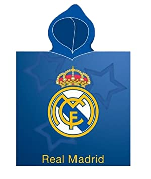 Real Madrid Toalla Poncho Escudo 55x115 Microfibra: Amazon.es: Deportes y aire libre