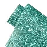 Glitter Heat Transfer Vinyl Roll Jade Color